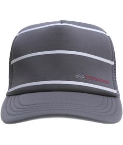 Foursquare Heather Stripes Trucker Cap Charcoal Hther Strp