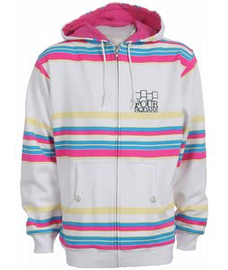 Foursquare Holiday Polo Stripes Zip Hoodie