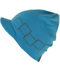 Foursquare Icon Visor Beanie Bluebird