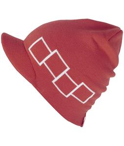 Foursquare Icon Visor Beanie Currant