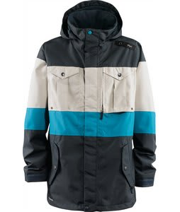 Foursquare Industry Snowboard Jacket Solar Midnight/Caribbean/Birch