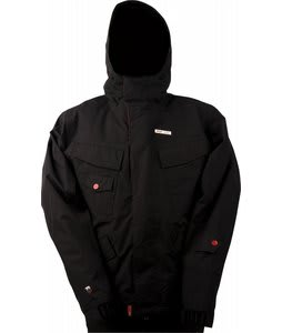 Foursquare Lil Fabian Snowboard Jacket Black