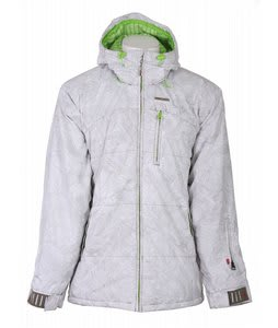 Foursquare Manfredi Snowboard Jacket White Topo