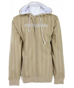 Foursquare Multi-Color Pinstripe Hoodie Tan Multicolor Pin