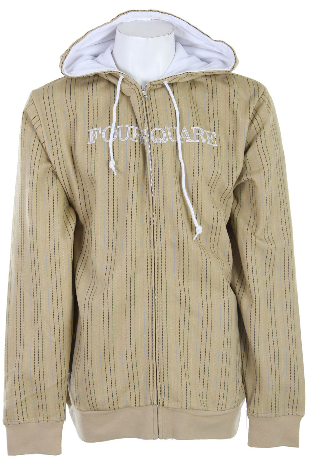 Shop for Foursquare Multi-Color Pinstripe Hoodie Tan Multicolor Pin - Men's
