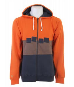 Foursquare Straight Stripe Fullzip Hoodie Sierra Sunset