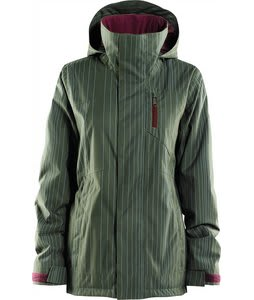 Foursquare Pillar Snowboard Jacket Portland Pine Alinged Pinstripe