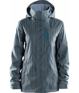 Foursquare Pillar Snowboard Jacket Stonewash Aligned Pinstripe