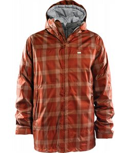 Foursquare Planner Snowboard Jacket Brick Spectrum Plaid