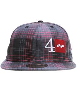 Foursquare Black Rip Plaid NE Cap