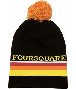 Foursquare Rope Tow Beanie Black 
