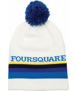 Foursquare Rope Tow Beanie White 