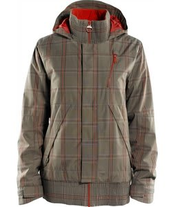 Foursquare Rotary Snowboard Jacket Walnut Plotter Plaid