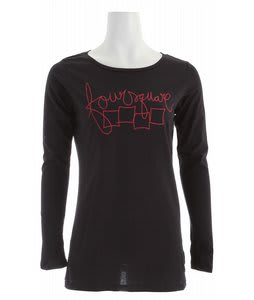 Foursquare Script L/S T-Shirt Blacktop