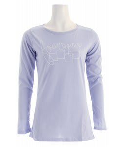 Foursquare Script L/S T-Shirt Persian Lilac
