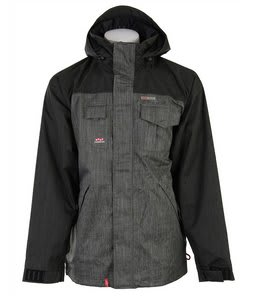 Foursquare Serle Snowboard Jacket Charcoal Dress Shirt