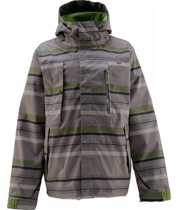 Foursquare Serle Snowboard Jacket Layered Form Charcoal Grey