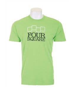 Foursquare Stacker T-Shirt Green Light