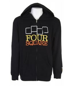 Foursquare Stack Wordmark Zip Hoodie Black