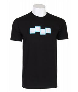 Foursquare Stripes A Poppin T-Shirt Black