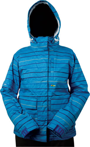 Foursquare Tevis Snowboard Jacket Regatta Lil Stripes