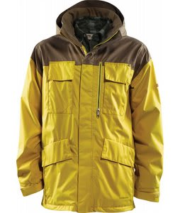 Foursquare Torque Snowboard Jacket Walnut/Construction Yellow