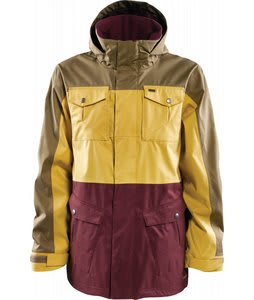 Foursquare Trade Snowboard Jacket Walnut/Construction Yellow/Plumber