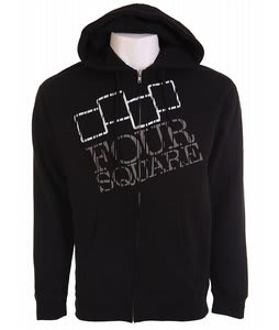 Foursquare Tree Knockout Zip Hoodie Black