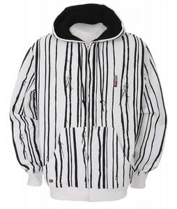 Foursquare Woods Zip Hoodie White/Black Woods