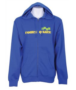 Foursquare Wordmark Full Zip Hoodie Reflex Blue
