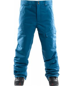 Foursquare Work Insulated Snowboard Pants Blue Print