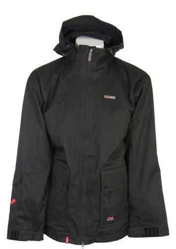 Foursquare Wright Snowboard Jacket Black Dress Shirt