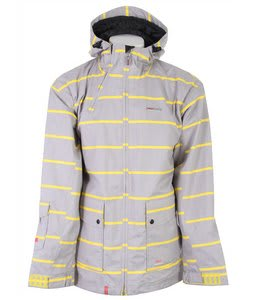 Foursquare Wright Snowboard Jacket Athletic Heather Stripes