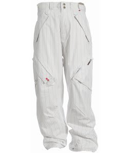 Foursquare Yeung Snowboard Pants White Pinstripe