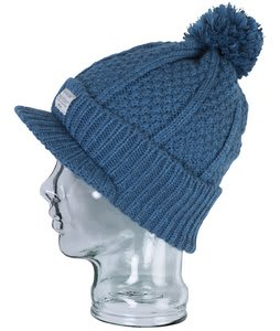 Foursquare Cable Visor Beanie Bluebird