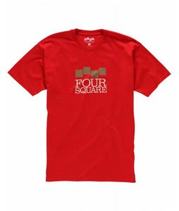 Foursquare Classic Stack T-Shirt Currant