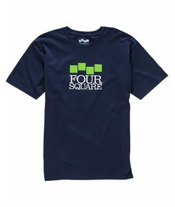 Foursquare Classic Stack T-Shirt Midnight Blue