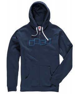 Foursquare Core Banger Fullzip Hoodie Midnight Blue