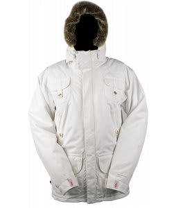 Foursquare J.O. Snowboard Jacket White Estate Pattern
