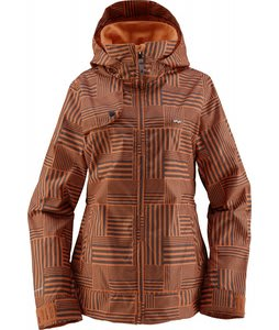 Foursquare Marissa Snowboard Jacket Gridlock Orange Nectar