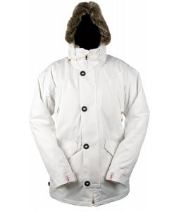 Foursquare Pepe Snowboard Jacket White Estate Pattern