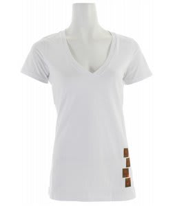 Foursquare Pixel V Neck T-Shirt Mont Blanc