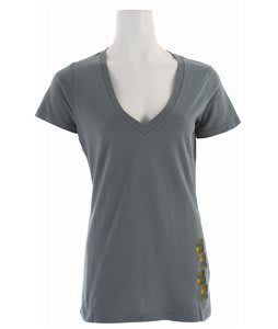 Foursquare Pixel V Neck T-Shirt Overcast