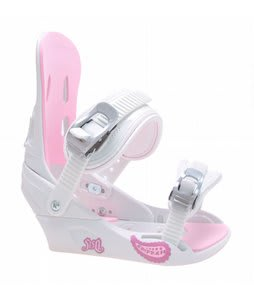 5150 Empress Snowboard Bindings White