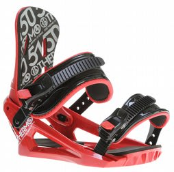5150 Thermo Snowboard Bindings Red
