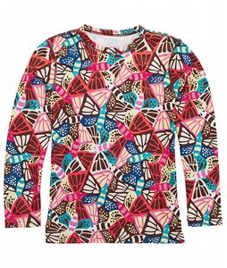 Burton Heartbreak Thermal Crew Butterfly Print