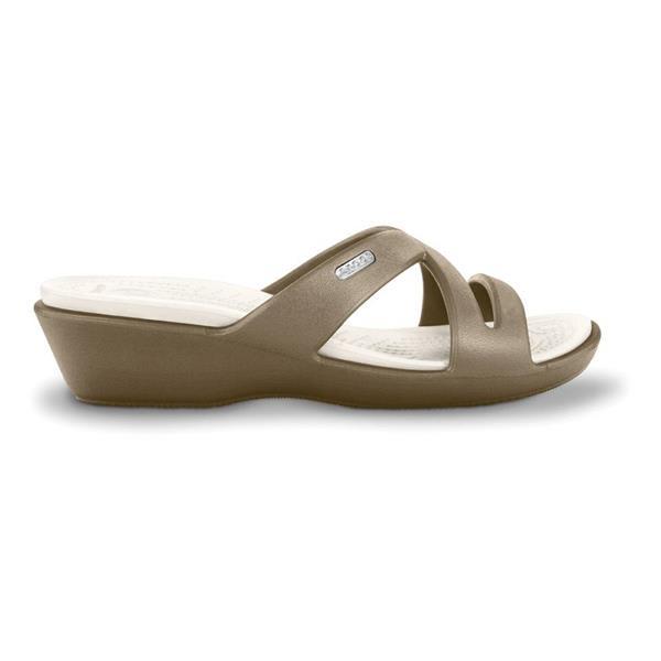 New Crocs Crocs Meleen Women Open Toe Black Slides Sandal Sandals