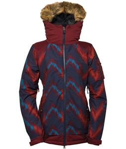 686 Authentic Aerial Insulated Snowboard Jacket Navy Ikat Colorblock