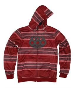 686 Airflight Advantage Bonded Fleece Hoodie Blood Rugby Stripe