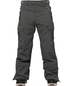 686 Authentic Infinity Cargo Insulated Snowboard Pants Gunmetal Texture